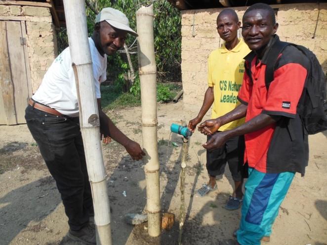 Reed-Based Handwashing Station