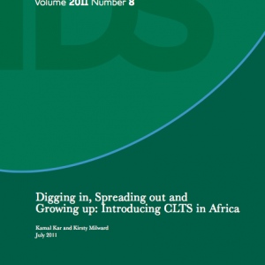 Digging in, Spreading out and Growing up: Introducing CLTS in Africa