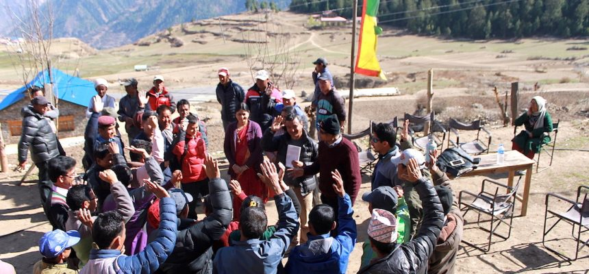 Triggering Nepalese Community at 10,000 ft above sea level in Simikot, Humla, Nepal