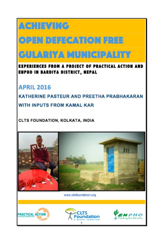 ODF Gularia Municipality Nepal CLTS Foundation