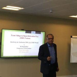Dr. Kamal Kar's lecture at WaterAid, London Office on 24th January 2018