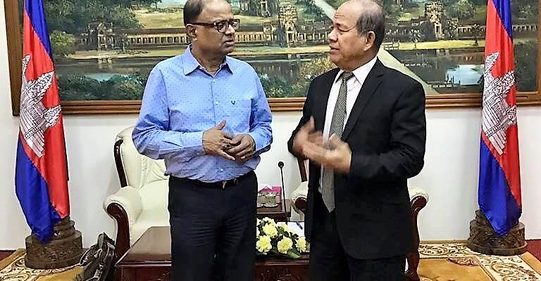 Meeting with the Cambodia's Minister of Rural Development on 12th February, 2018